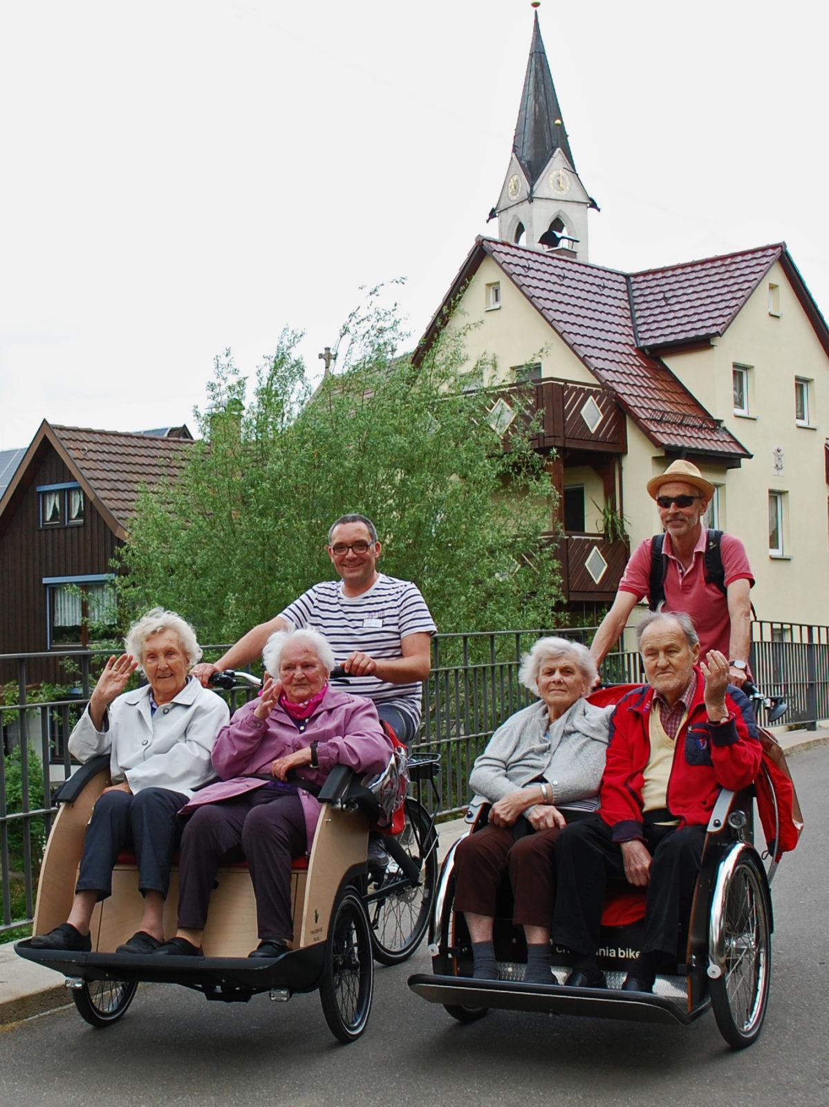 Radeln ohne Alter Kirchheim unter Teck_Rikscha Herdfeldbrücke 2