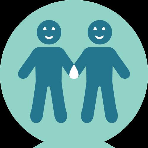 Radeln ohne Alter Leitprinzipien Icon Beziehungen
