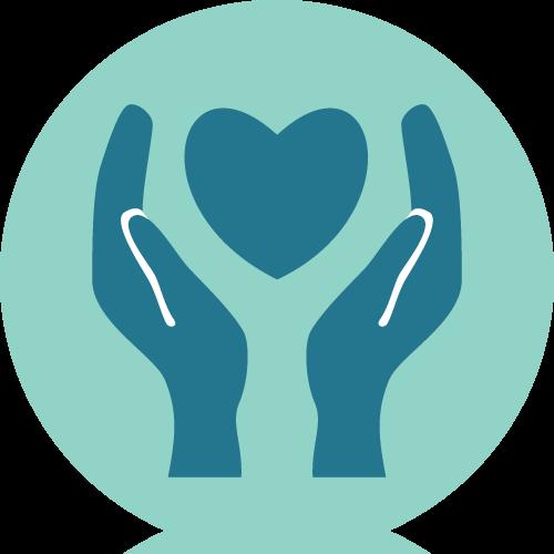 Radeln ohne Alter Leitprinzipien Icon Großzügigkeit